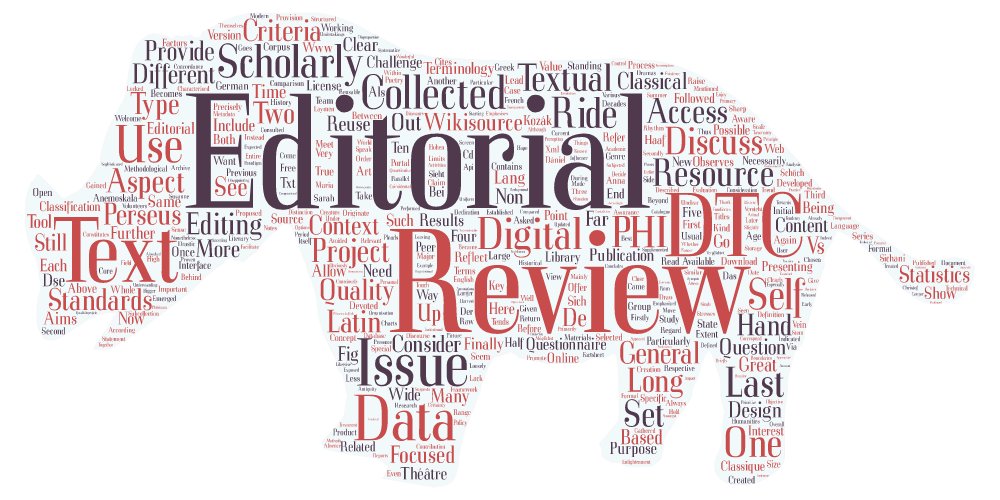 EDITORIAL: Digital Text Collections – Take Two, Action!