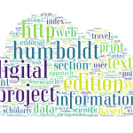 At the intersection of sciences, humanities and technologies – A review of the edition humboldt digital