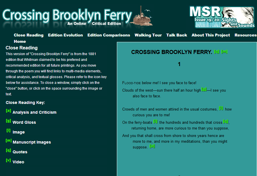 walt whitman brooklyn ferry