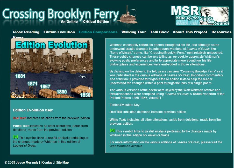 walt whitman crossing brooklyn ferry poem